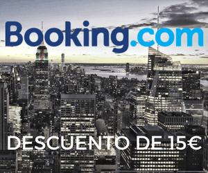 Descuento de 15€ en Booking