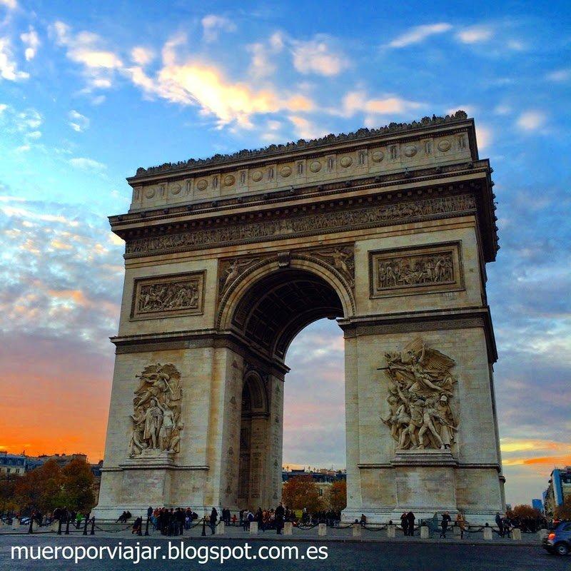 Arc de Trionphe, París