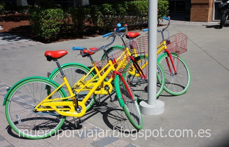 Bicicletas con colores corporativos de Google