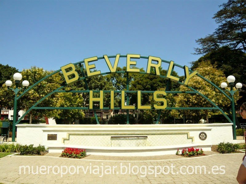 Famoso cartel de Beverly Hills, Los Angeles