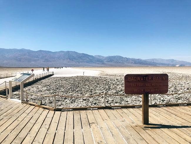 Bad Water en Death Valley, el punto más caliente de todo el hemisferio norte