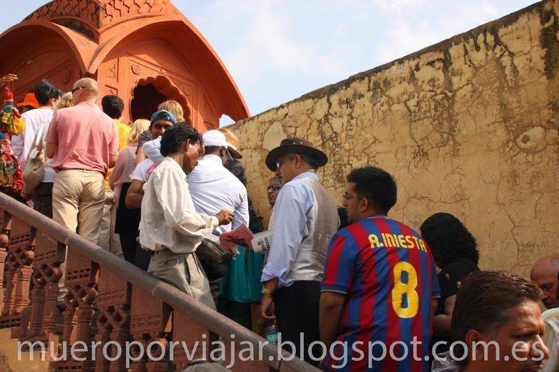 Aficionado al Barça en Jaipur, India