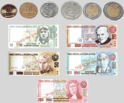 Muestra de la moneda de Perú: el nuevo Sol