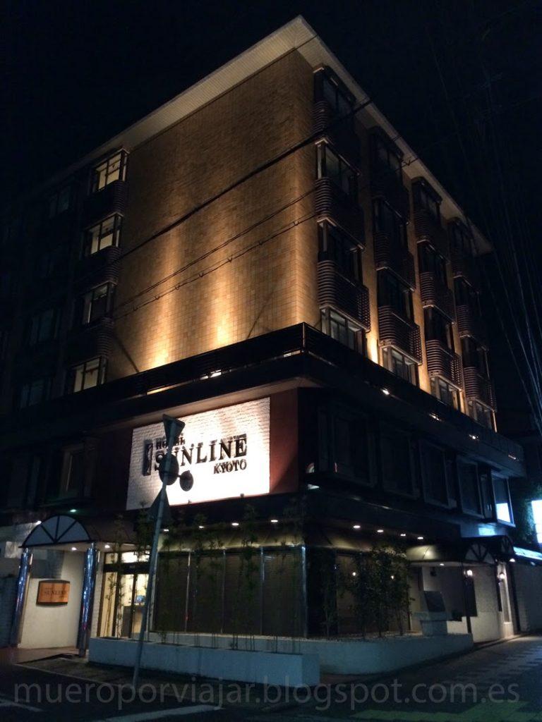 Fachada del hotel Sunline Kyoto Gion Shijo