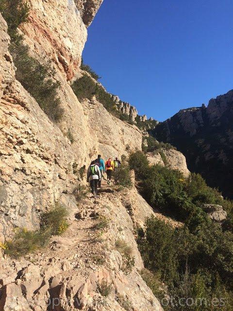 Trail walking en Montserrat (Barcelona)