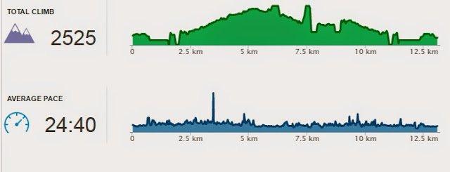 Información altitud de Runkeeper