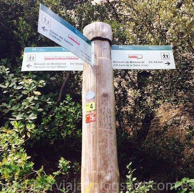 Información sobre las caminatas en la Montaña de Montserrat