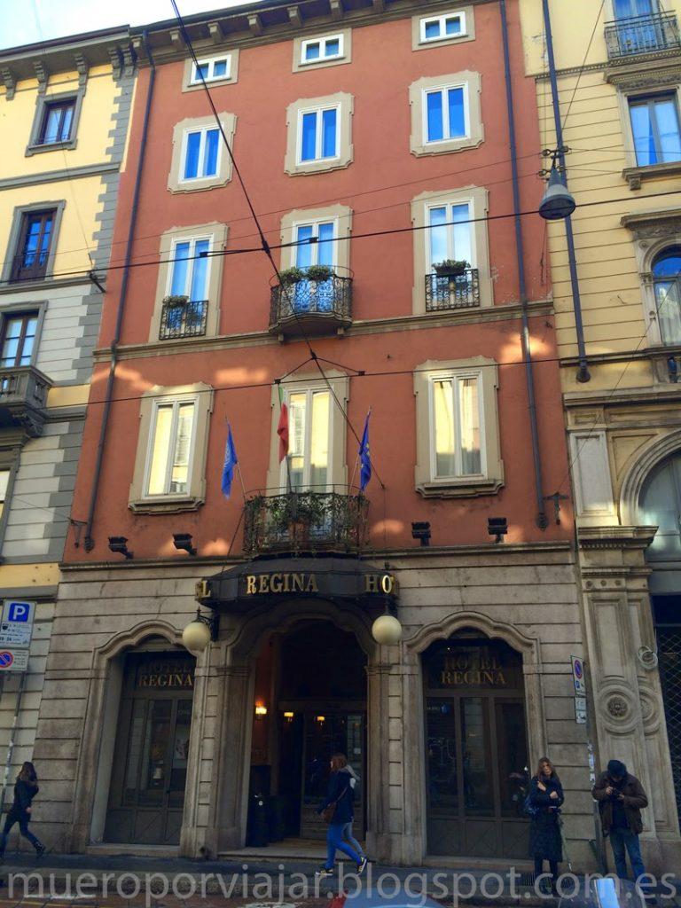 Fachada del Hotel Regina de Milán