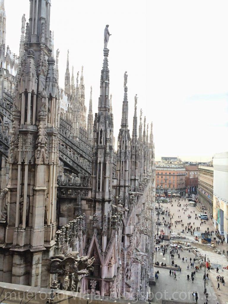 Columnas del techo del Duomo de Milán