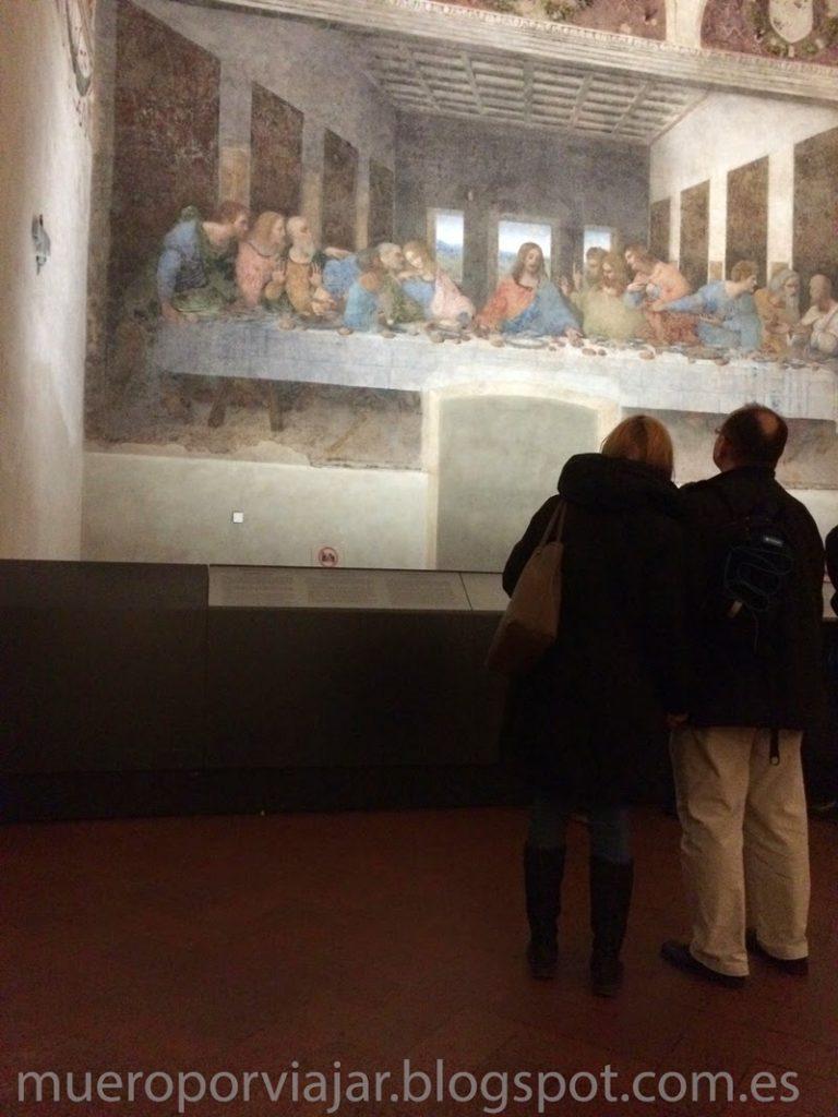 Espectacular vista de la pintura La Ultima Cena de Leonardo Da Vinci