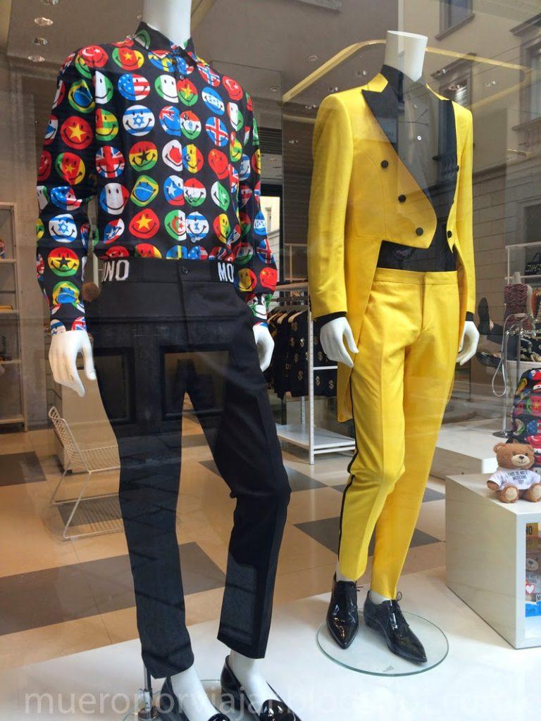 Escaparate con lo mas Inn de la moda de Milán