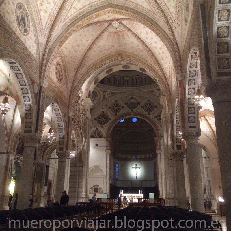 Interior de la iglesia de Santa Maria delle Grazie