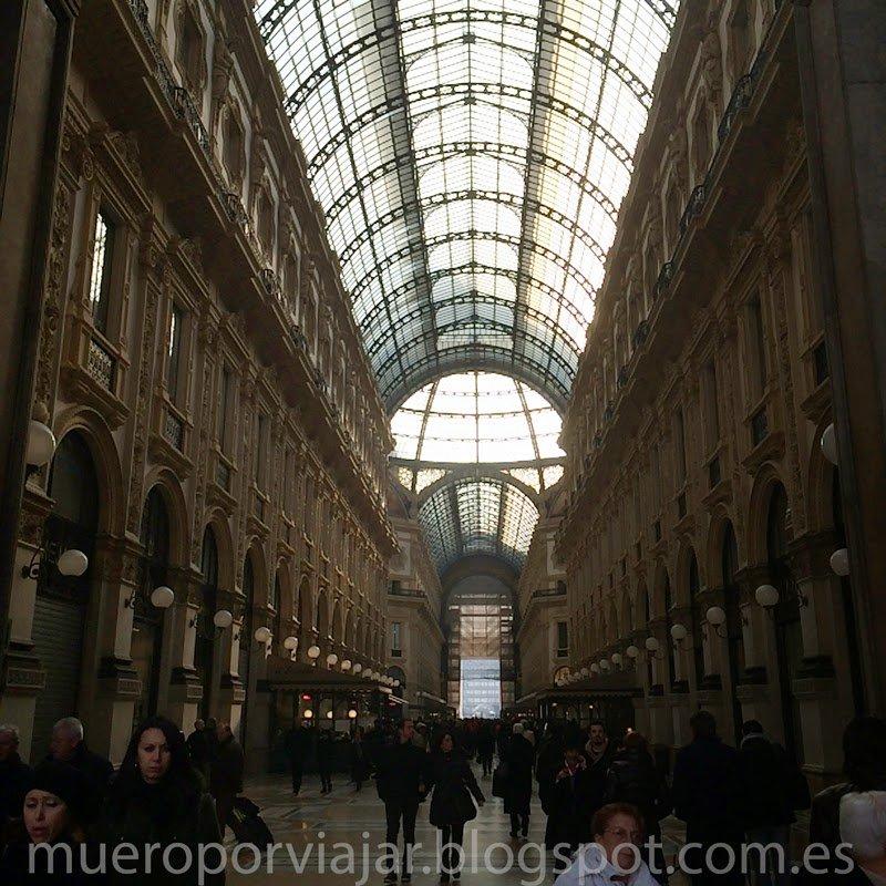 Interior de la Galleria del Vittorio Emanuele II