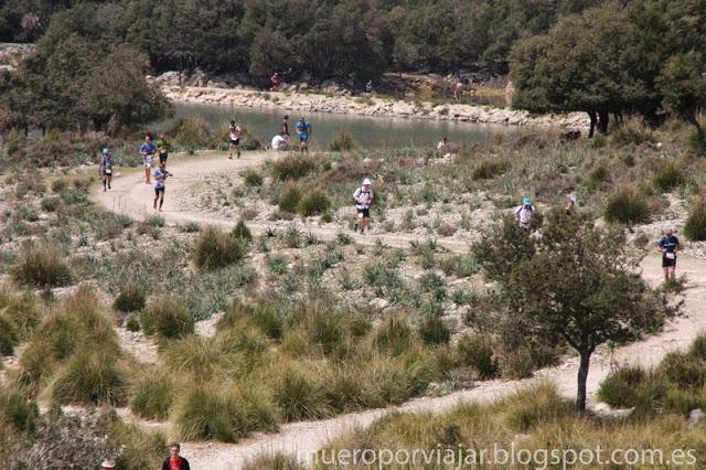 Parte del recorrido de la Ultra Mallorca 2015 con gran cantidad de runners
