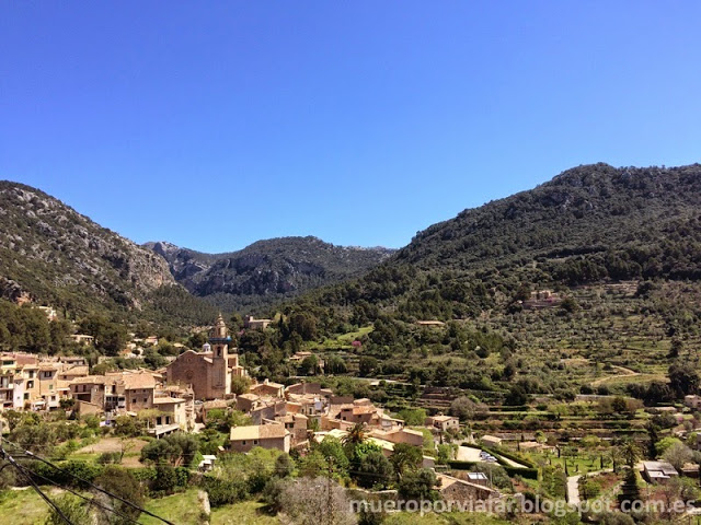 Vista del pueblo de Valldemosa