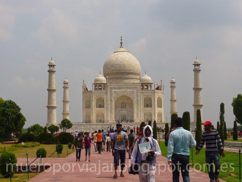 El Barça representado en el Taj Mahal, India
