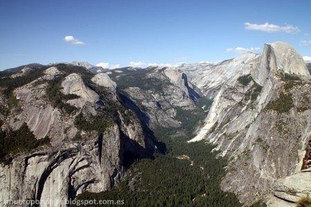 La vistas en el Glacier Point en Yosemite
