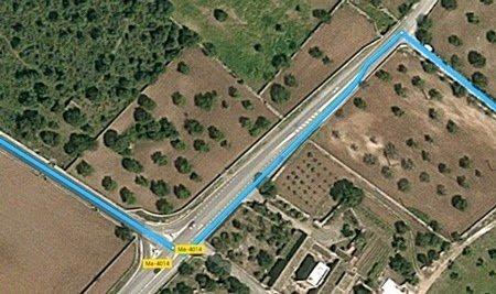 Imagen de Google Maps, venimos desde la izquierda y nuestro destino es la derecha