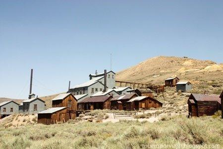 La principal actividad económica en el pueblo de Bodie era la minería