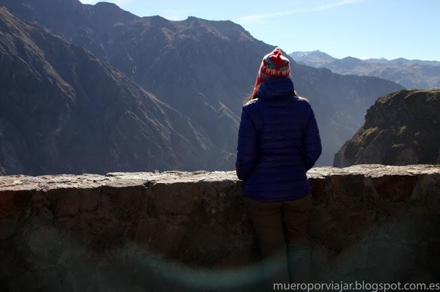 Hermosas vistas desde el Mirador Cruz del Condor en Arequipa