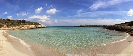 Vista panorámica de la playa de Cala Varques