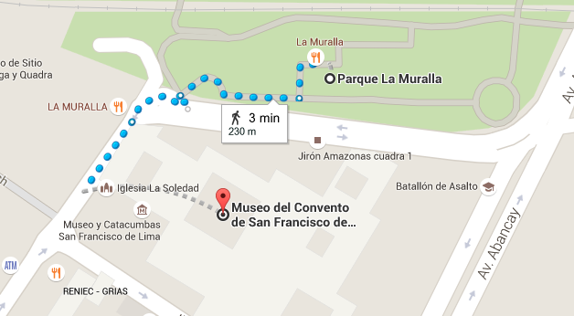 Recorrido desde el Parque de la Muralla hasta el Museo del Convento de San Francisco
