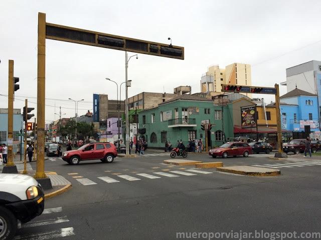 En las calles de Lima podemos encontrar mucha diversidad de colores en las casas