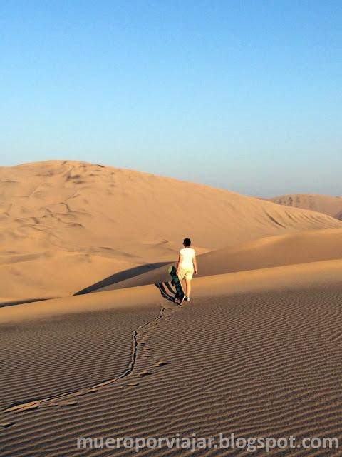 Pudimos practicar sandboarding en el desierto del Oasis de Huacachina, una experiencia única