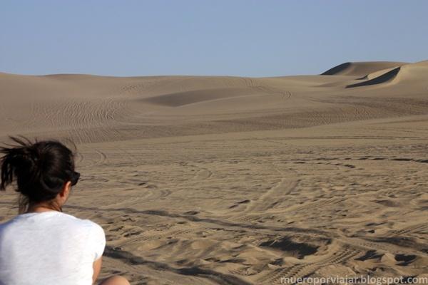 La tranquilidad del desierto era total, un espacio infinito y único