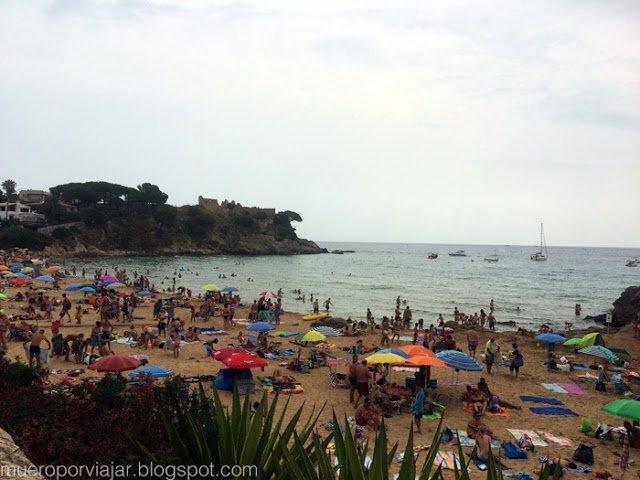 Playa de La Fosca, en Palamós