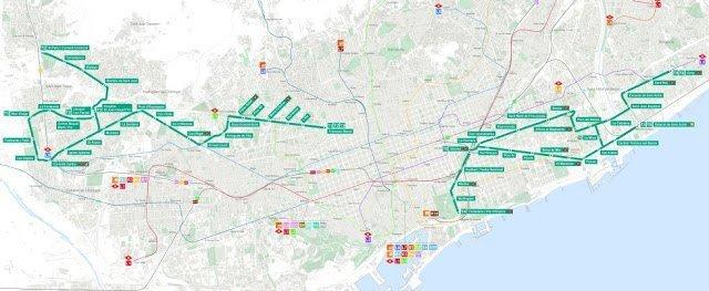 Mapa tramvia de Barcelona