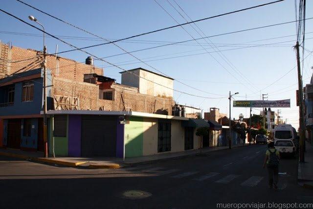 Las calles de Nasca, en continuo crecimiento