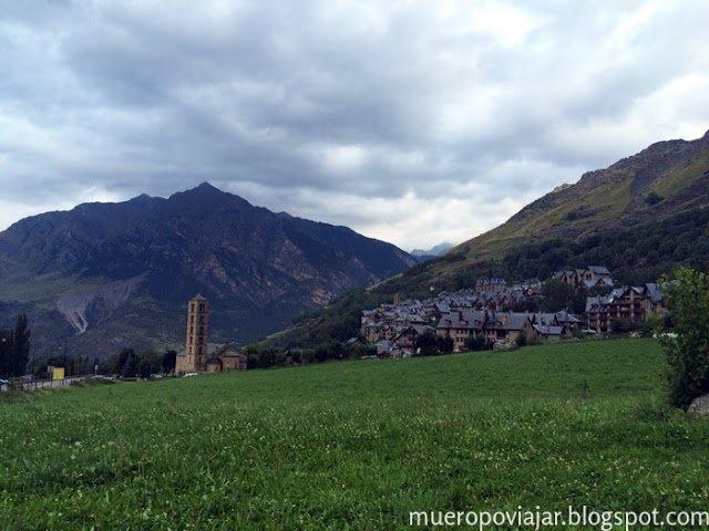 Vista del pueblo de Taüll