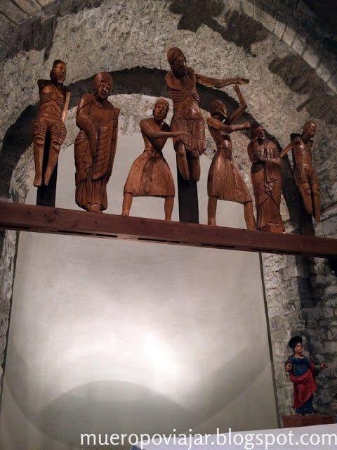 Las tallas de madera tenian mucho detalle y eran muy bonitas