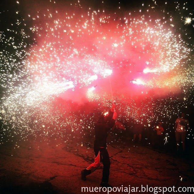 Los fuegos artificiales fueron muy bonitos y espectaculares