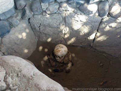 Se pueden ver momias de bebé en las tumbas, muy impresionante