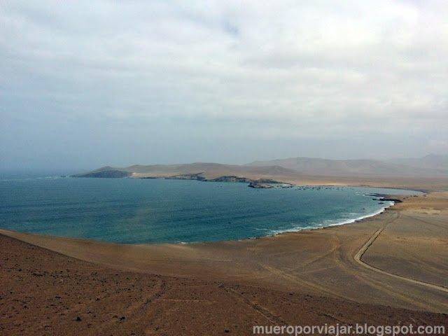 La península de Paracas vista desde el mirador