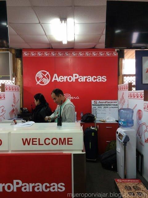 Nuestra aerolinea, Aeroparacas, fueron muy agradables y muy atentos