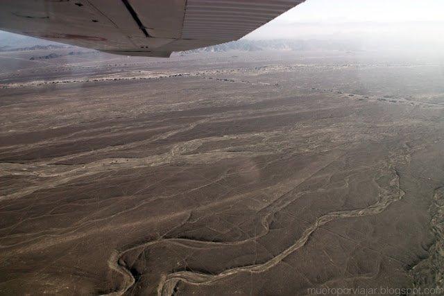 Vistas de la explanada desde la avioneta, el viaje fue muy suave y agradable