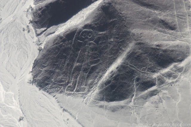 Figura del Astronauta, una de las más curiosas de las líneas de Nasca