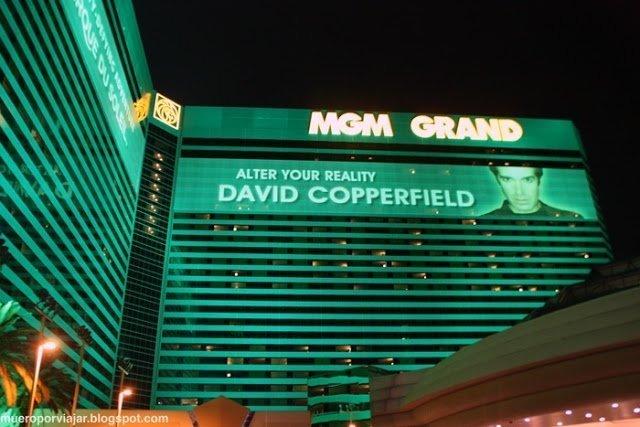 Fachada del MGM Grand, donde siempre hay grandes espectáculos