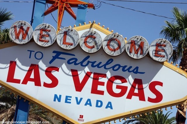 Cartel de Fabulos Las Vegas de la entrada de la ciudad, sin duda uno de los lugares más visitados