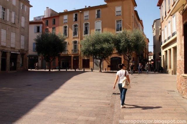 Aprovechamos que hacia un día estupendo para pasear por las calles de Perpignan