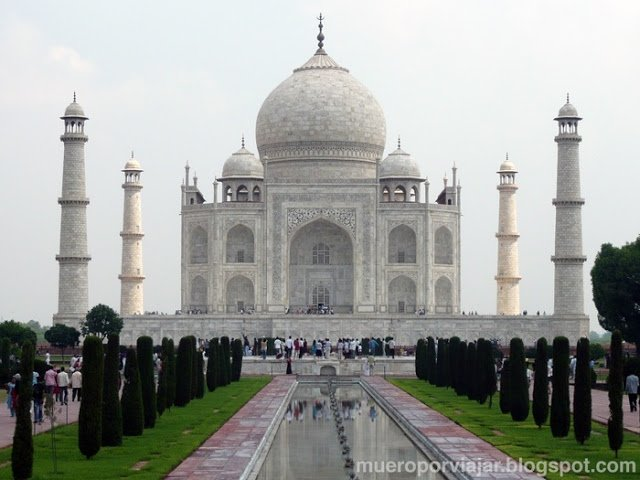 El espectacular Taj Majal en la India