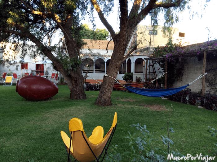 Jardín del Hotel Casa de Mi Abuela
