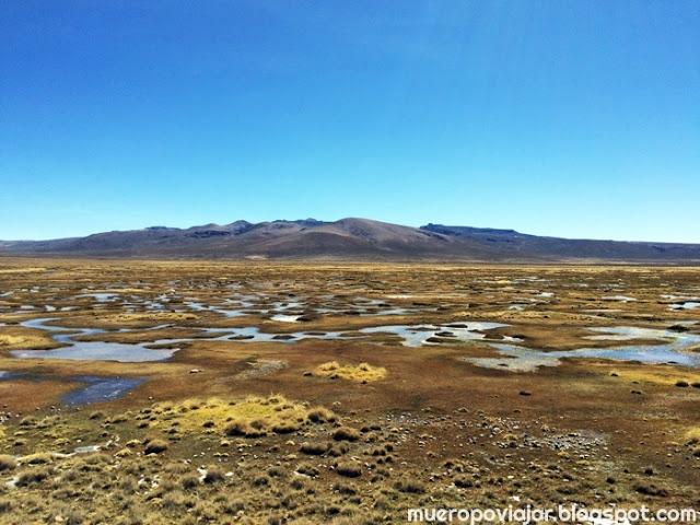 Impresionante vista de la esplanada del altiplano en el cañon del colca
