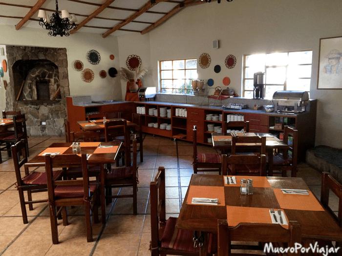 Restaurante y zona de desayuno del hotel