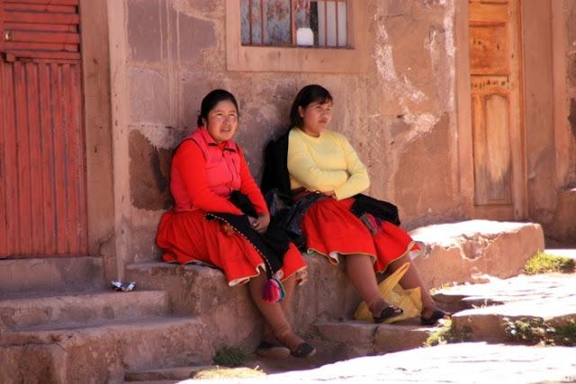 La gente de la Isla Taquile es muy amable y tranquila