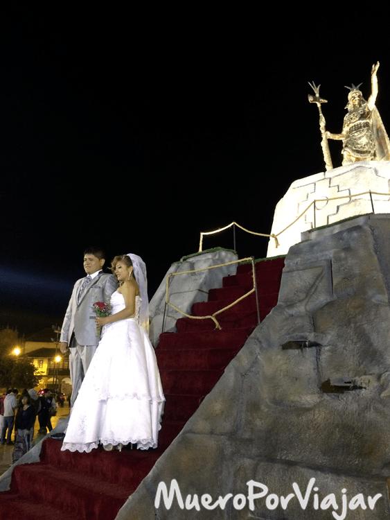 Estatua del Inca Pachacútec en Cuzco