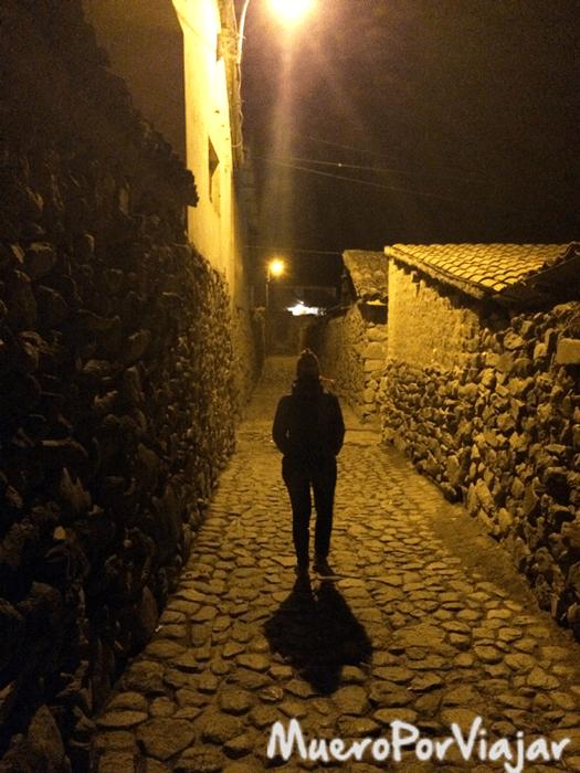 El pueblo de Ollantaytambo es muy bonito y sus calles son muy antiguas
